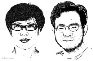 law professors Fu Yulin and He Haibo (©Southern Weekend)